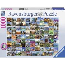 Ravensburger PU193714 - 99 mooie plekken op aarde 1000 stukjes