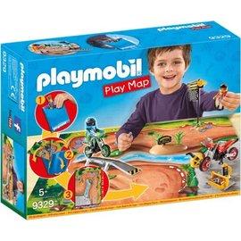 Playmobil pl9329 - Motorcrossers met plattegrond