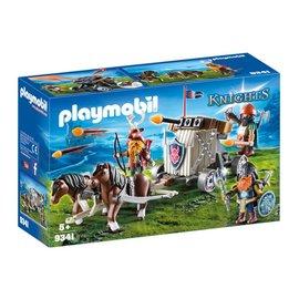 Playmobil PL9341 - Mobiele ballista met pony's en dwergen