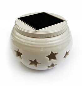 Ledika LED Solar Keramik RGB Tischkerze