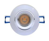 Ledika LED Einbaustrahler weißfarben 6W warmweiß dimmbar (nicht kippbar)
