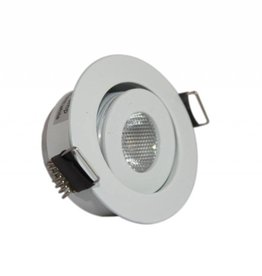 Ledika LED Einbaustrahler silber 3W warmweiß dimmbar