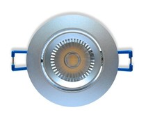 Ledika LED Einbaustrahler silberfarben 6W warmweiß dimmbar (kippbar)