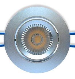 Ledika LED Einbaustrahler silberfarben 6W warmweiß dimmbar (nicht kippbar)