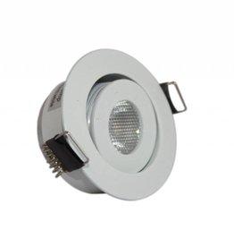 Ledika LED Einbaustrahler weißfarben 3W warmweiß dimmbar
