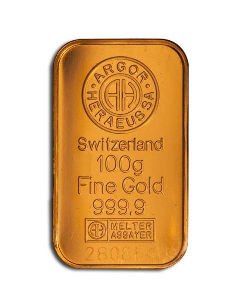 Heraeus 100g Gold Heraeus Barren Münzen Kaufen