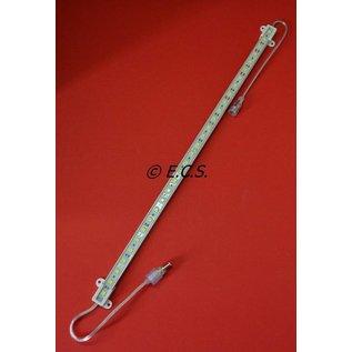 Aluminium-LED-Leiste 50cm mit 20 cm Kabel und wasserdichtem Stecker auf beiden Seiten.