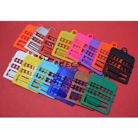 Splitring Plastic 4,0 mm Set van 12 Stuks