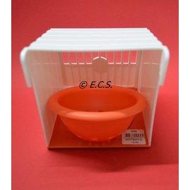 Hang Nest Kunststoff mit Los Nest Weiß / Rot