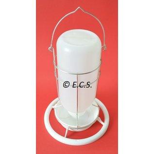 Meine Lampe weißem Kunststoff mit Metallhalter