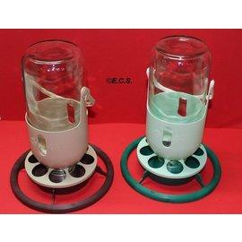 Mijnlamp Fauna met glazen fles