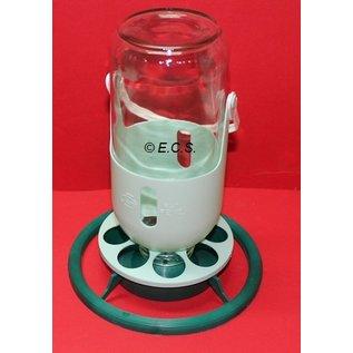Meine Lampe Fauna mit Plastikhalter Braun / Beige Grün / Mint Glasflasche