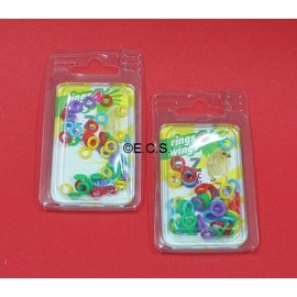 color rings flexible assorted 50pcs 4.5 or 6.0mm