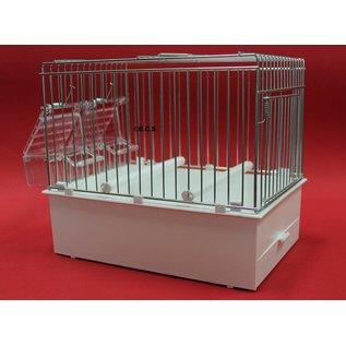 Transportkäfig / Cage Deployment Weiß 24 x 22 x 17 cm Schalen und Rutsche