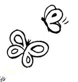 Heindesign Stempel - Vlindertjes