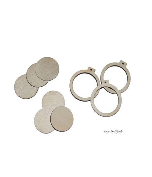 Miniatuur borduurringen (4cm)