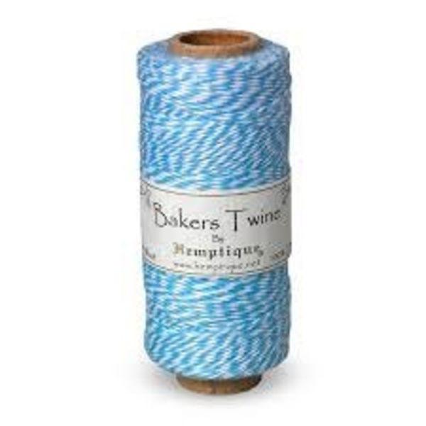 Bakers Twine - helder blauw/wit