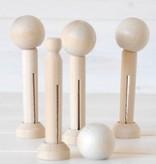 Set - Houten knijpers (3)