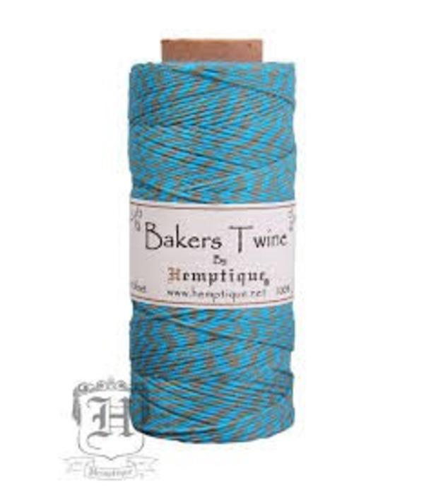 Hemptique Bakers Twine - Turquoise/Dusty Olive