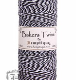 Hemptique Bakers Twine - Zwart/Wit