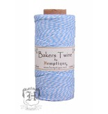 Hemptique Bakers Twine - Licht blauw/wit