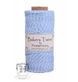 Hemptique Bakers Twine - Licht blauw/wit