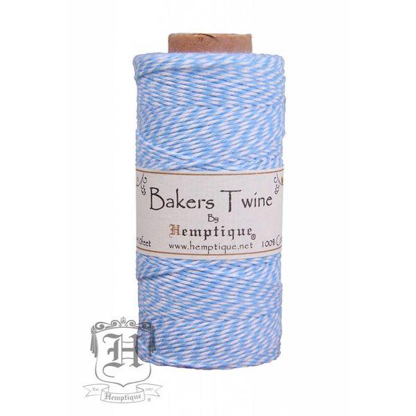 Bakers Twine - Licht blauw/wit
