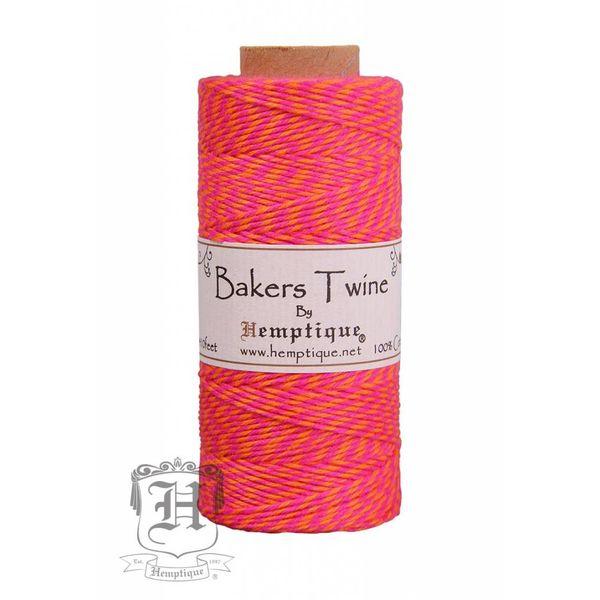 Bakers Twine - Neon Roze/Oranje