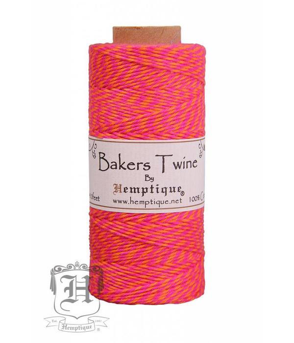 Hemptique Bakers Twine - Neon Roze/Oranje
