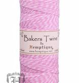 Hemptique Bakker Twine - Licht roze/Wit