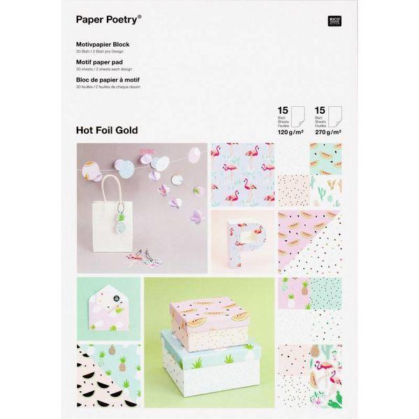 Papierblok - Tropical Spring
