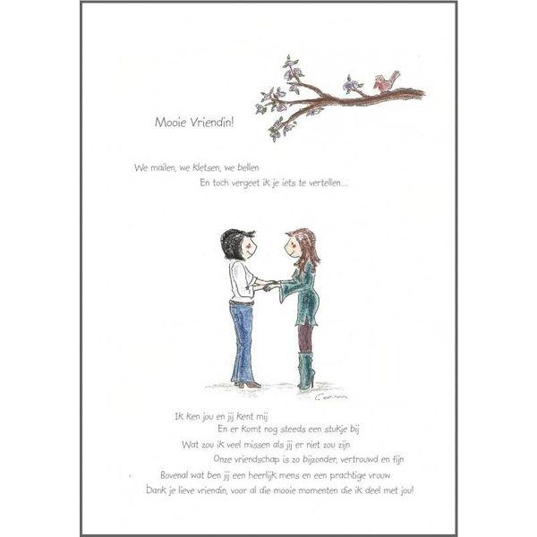 TeaTalk kaart - Mooie Vriendin