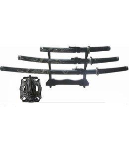 Samuraiset schwarz 3 Stück