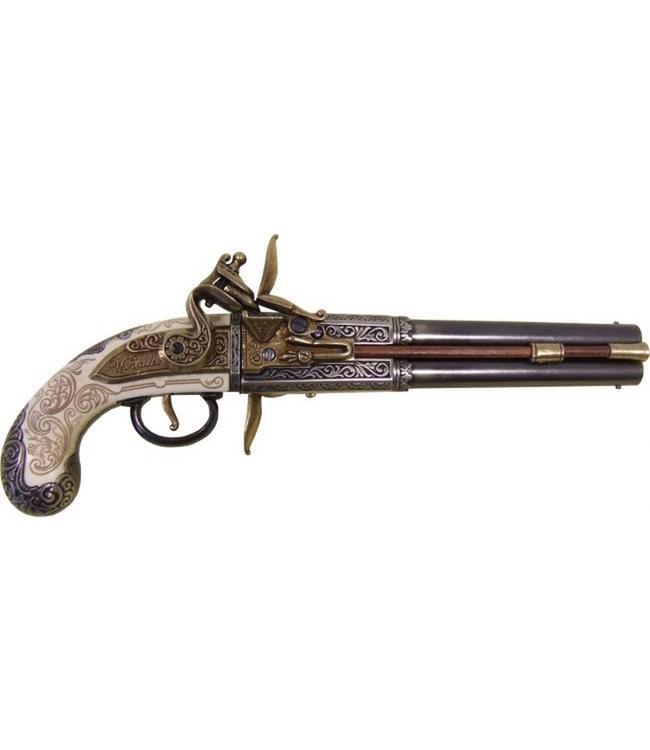 Denix Doppellaufpistole mit 2 rotierenden Läufen