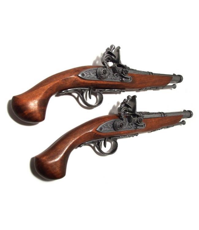 Denix Duell-Pistolen-Set mit 2 Steinschlosspistolen
