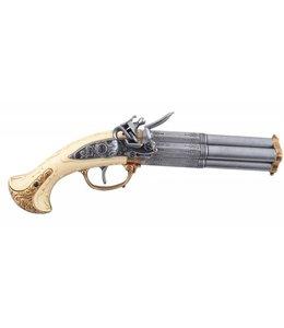 Denix Vierläufige Steinschloßpistole