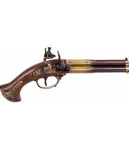 Denix Dreiläufige Steinschloßpistole
