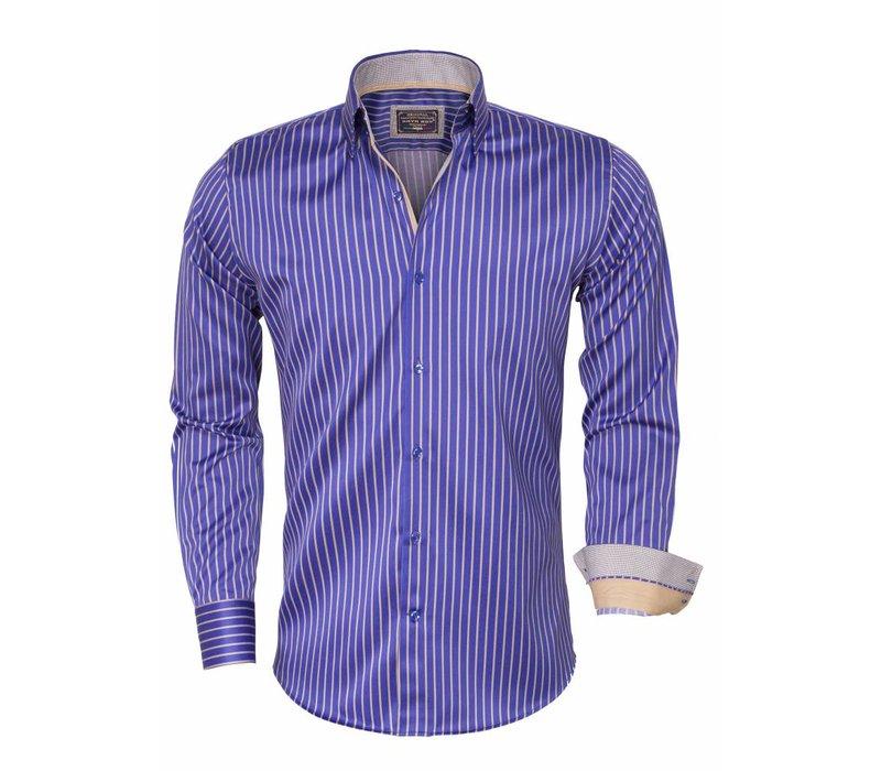 Arya Boy Overhemd.Arya Boy Overhemd Lange Mouw 85266 Light Navy Wam Denim
