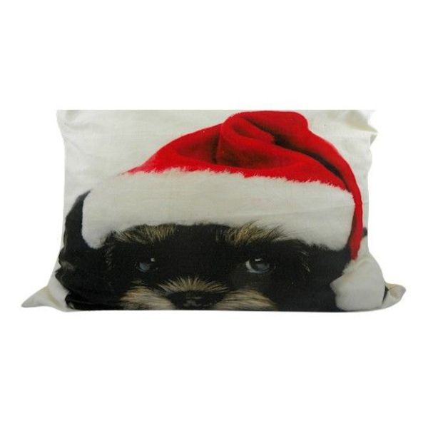 Half Sierkussen Canvas Kerst Bichon Frisé