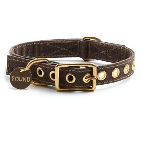 Halsband Found My Animal Canvas Bruin