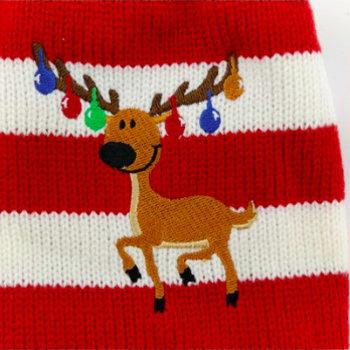 Honden Kerst Trui - Rendier rood/wit