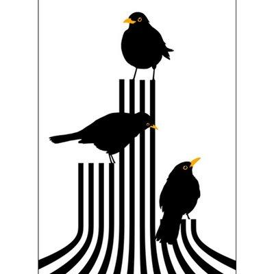 Lina Johansson Design poster Vögel auf dem Podium