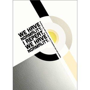 Lina Johansson Design poster Normalität