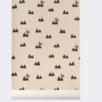Ferm Living wallpaper Rabbit Rose