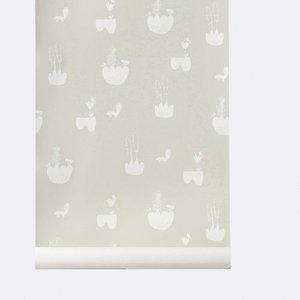Ferm Living wallpaper Landscape Grey