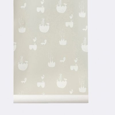 Ferm Living wallpaper Landscape Grey