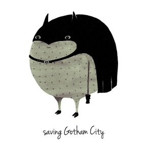 A Grape Design poster batman save gotham city