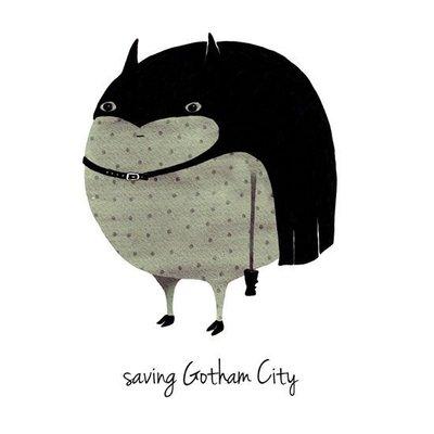 A Grape Design poster batman save gotham city