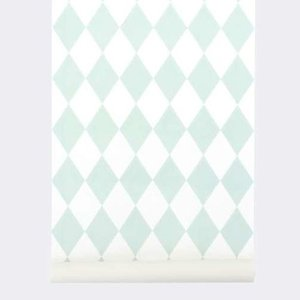 Ferm Living Tapete Harlequin Mint #149