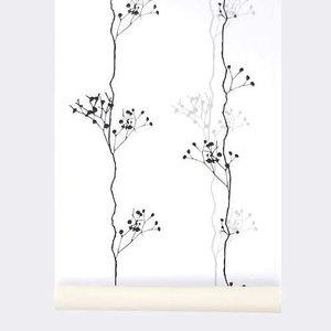 Ferm Living wallpaper Berry Black #107